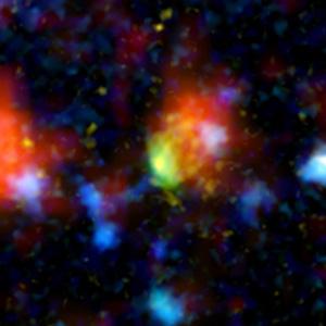 Imagen de la galaxia 'Baby boom'. Foto: (NASA)