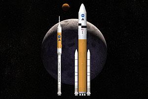 Diseño del futuro cohete espacial 'Ares'. (Foto: AP)