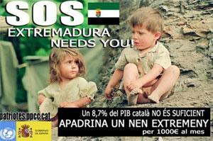 El polémico cartel del concejal tarraconense. (Foto: http://lluissunye.blogspot.com)