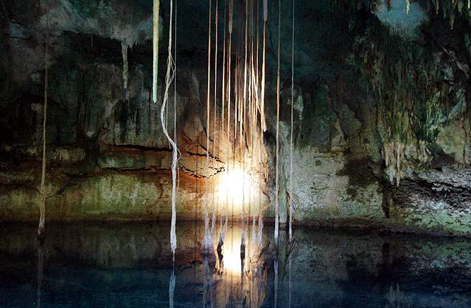 Imagen de una de la cueva hallada en México. (Foto: EFE)