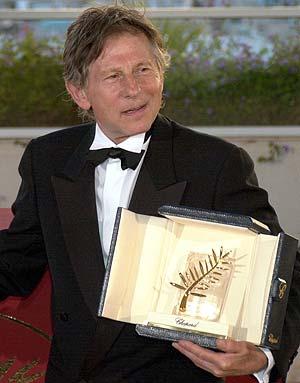 Polanski, con la Palma de Oro en 2002. (Foto: AP)