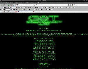 Mensaje en griego que los 'hackers' introdujeron en el sistema del LHC.
