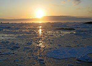 Imagen del Ártico durante la fase del deshielo en el verano. (Foto: EL MUNDO)