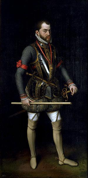 'Retrato de Felipe II en el día de San Quintín (1560)', de Antonio Moro. (Foto: EFE)