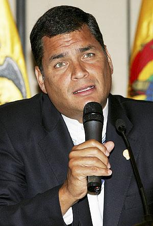 Rafael Correa, presidente de Ecuador y gran impulsor del texto. (Foto: EFE)