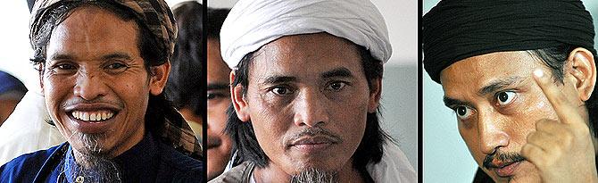 Imagen de los tres autores de la masacre de Bali. (Foto: AFP)