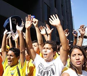 Manifestación estudiantil en las calles de la capital venezolana. (Foto: Cecilia Rodríguez)