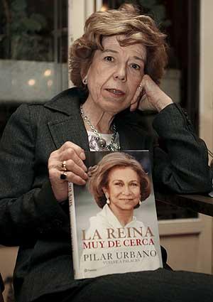 Pilar Urbano, durante la presentación de su libro en Madrid. (AFP)