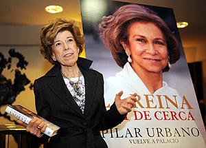 Pilar Urbano, durante la presentaci�n de su libro en Madrid. (Foto: AFP)