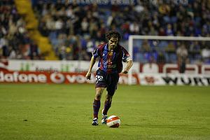 El ex capitán del Levante, Iñaki Descarga, durante un encuentro de Liga. (Foto: Benito Pajares)
