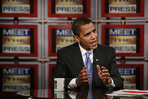 Obama, en un momento de la entrevista en el programa 'Meet the Press' de la cadena NBC. (Foto: REUTERS)
