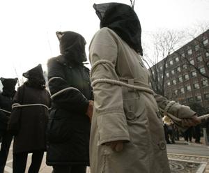Acto reivindicativo para pedir la protección de los disidentes en Corea del Norte. (Foto: Reuters)