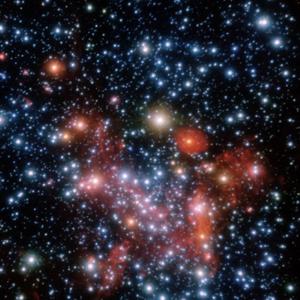 Imagen captado por el VLT (Very Large Telescope) del centro de la Vía Láctea, donde se encuentra el agujero negro. (Foto: ESO/S. Gillessen et al.)