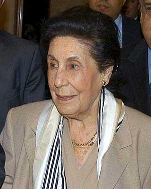 Fotografía de archivo de la viuda del ex presidente mexicano Lázaro Cárdenas