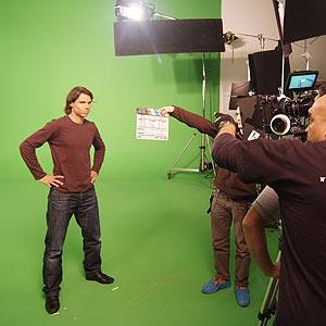 Un momento de la grabación del spot (Foto: Caib).