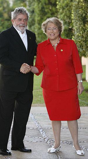 Michele Bachelet en un encuentro reciente con el presidente de Brasil. (Foto: EFE)