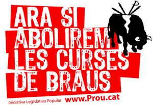 Cartel distribuido por los promotores de la ILP. (Fuente: www.prou.cat)