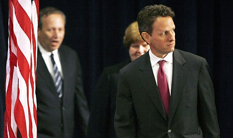 Geithner, en la presentación de su nombramiento. (Foto: Reuters)