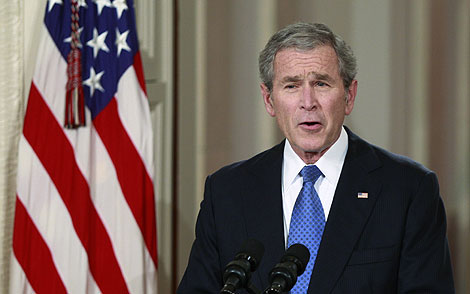 George W. Bush, durante su discurso de despedida. (Foto: Reuters)