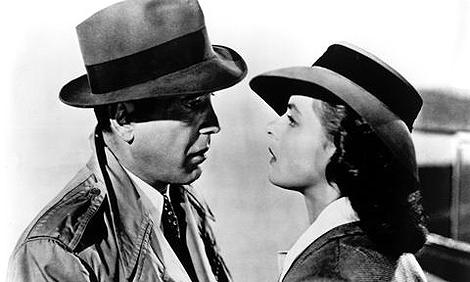 La mítica despedida de Ingrid Bergman y Humphrey Bogart en el aeropuerto de Casablanca (Marruecos).