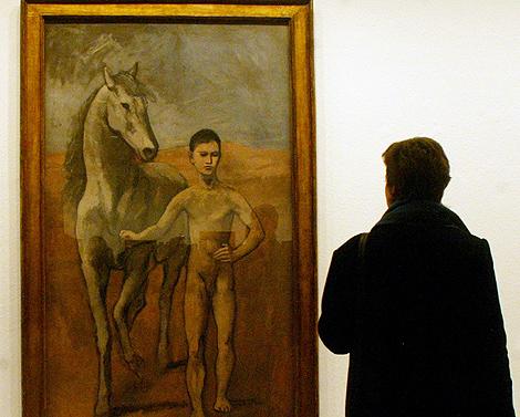 'Boy Leading a Horse' , de paso por la National Gallery de Berlín en 2004. | AP