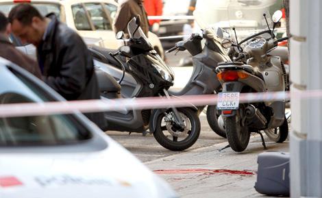 Lugar en el que se ha cometido el asesinato, en la zona alta de Barcelona. | Efe