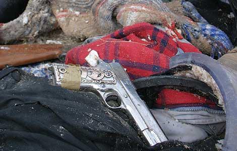 Pistola usada por los sicarios mexicanos. (Foto: EFE)