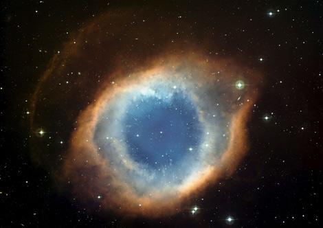 Imagen de la nebulosa Helix conocida como el 'Ojo de Dios'.  Efe