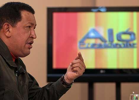 Chávez, durante su intervención en Aló presidente.