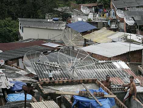 Chabolas en la favela de Santa Marta. | Reuters