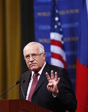 El presidente de la República Checa Vaclav Klaus. (Foto: Reuters)