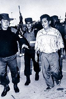 Leónidas Vargas cuando fue capturado en 1987. | Foto: El Espectador