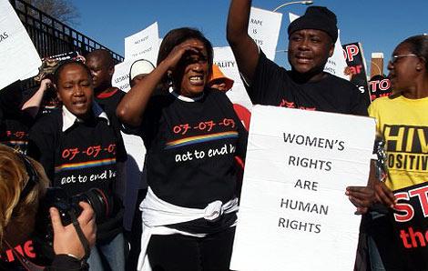 Imagen de archivo de una protesta por el asesinato de Eudy.