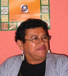Magui Balbuena, una guaraní representante de la asociación paraguaya Conamuri.