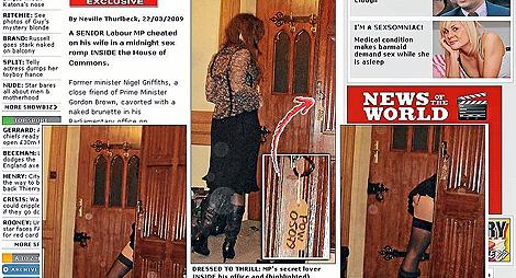 Las imágenes del escándalo, publicadas por el dominical 'News of the World'.