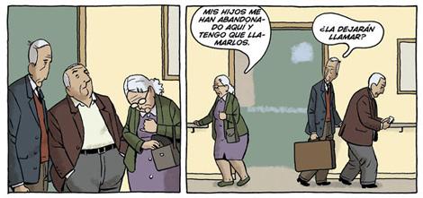 Viñeta del comic 'Arrugas'.