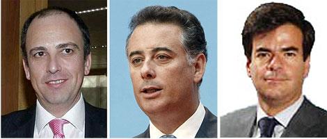 Martín Vasco, López Viejo y Bosch. | Agencias