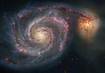 La galaxia 'torbellino' M51 observada con el Hubble. | NASA