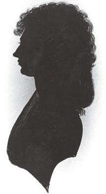 Silueta de Caroline Herschel en su juventud