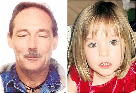 El presunto pederasta, Hewlett Raymond, y la pequeña Maddie.
