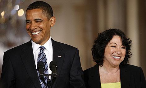 Barack Obama y Sonia Sotomayor, en la Casa Blanca.  AP