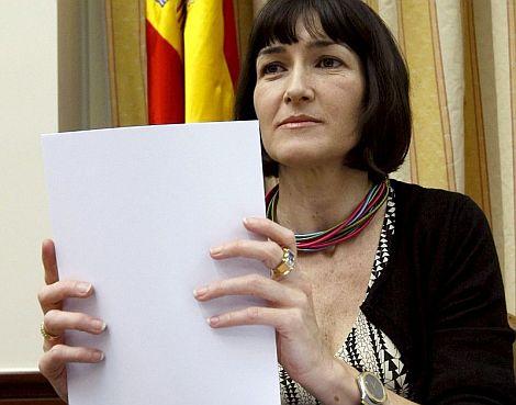 González-Sinde, al inicio de la Comisión de Cultura. | Efe