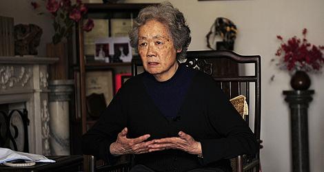 La líder de las madres de Tiananmen, Ding Zilin. | Afp