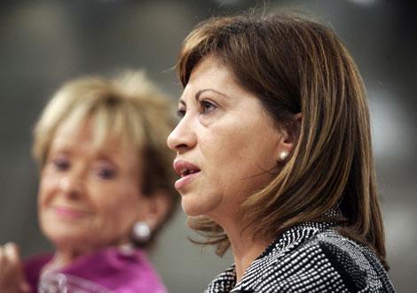 La ministra Elena Espinosa, al presentar las medidas medioambientales aprobadas por el Gobierno. | Diego Sinova