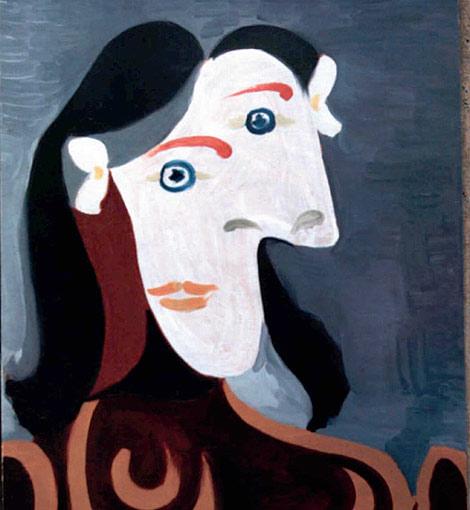En la imagen, el cuadro de Picasso 'Cabeza de mujer', robado de la galería de arte londinense Lefevre en 1997. | Foto: AP