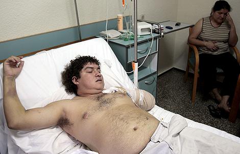 El hombre que sufrió la amputación del brazo izquierdo mientras trabajaba en Gandia. | Efe