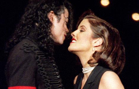 Michael Jackson y Lisa Marie Presley, en 1994. | Reuters