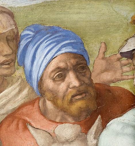 El supuesto autorretrato de Miguel Ángel. | Efe