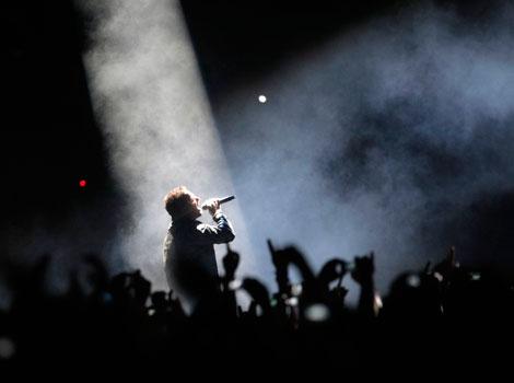 Bono en plena actuación. | Quique García