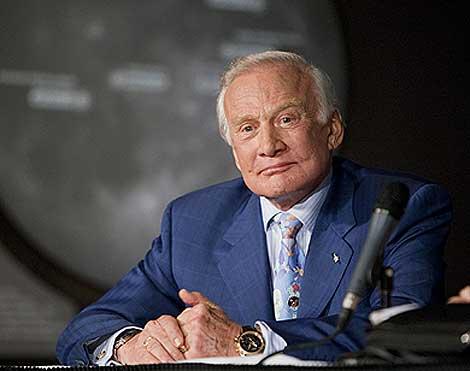 Aldrin, durante el aniversario del viaje del Apolo 11.  AP Photo.